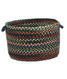 RugStudio presents Colonial Mills Chestnut Knoll Ck67 Thyme Green Basket Braided Area Rug
